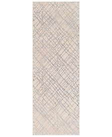 "Surya Tibetan TBT-2314 Medium Gray 2'7"" x 7'6"" Runner Area Rug"