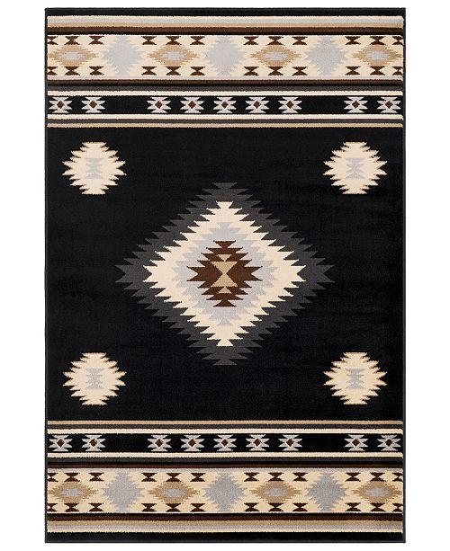 "Surya Paramount PAR-1095 Black 5'3"" x 7'6"" Area Rug"