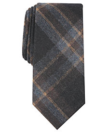 Tallia Men's Baldwin Slim Plaid Tie