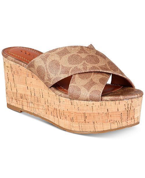 fecf5b1e4fa14d COACH Cross-Band Wedge Sandals   Reviews - Sandals   Flip Flops ...