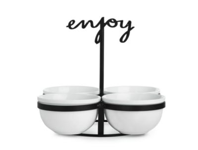 """""""Enjoy"""" Condiment Set, Created for Macy's"""