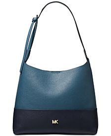 MICHAEL Michael Kors Junie Bicolor Pebble Leather Hobo