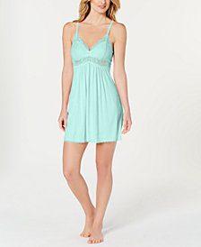 I.N.C. Lace-Trimmed Knit Chemise, Created for Macy's