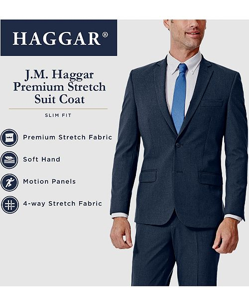 21437ad7f18 Haggar J.M. Men s Slim-Fit 4-Way Stretch Suit Separates   Reviews ...