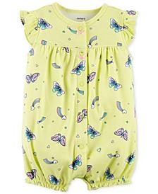 Baby Girls Cotton Butterfly Romper
