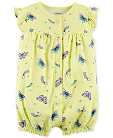 Carter's Baby Girls Cotton Butterfly Romper