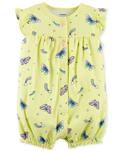 8f452e9a3df0 Carter s Baby Girls Cotton Butterfly Romper   Reviews - All Baby ...