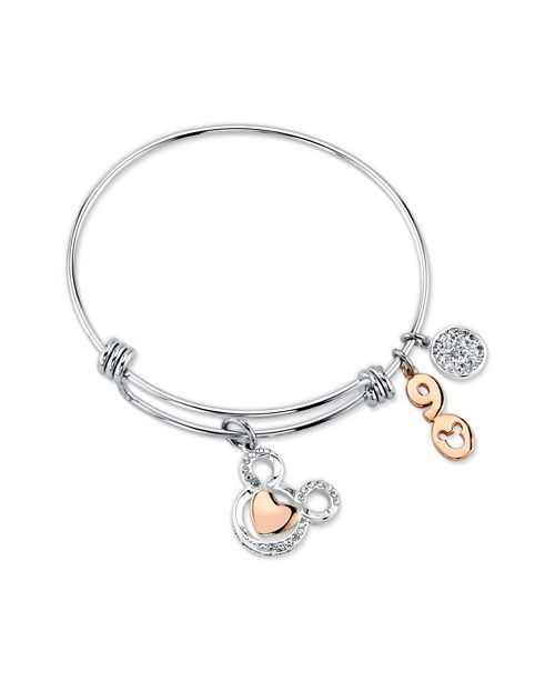 ... Disney Two-Tone Crystal Mickey Mouse 90th Anniversary Adjustable Bangle  Bracelet in Stainless Steel for ... 4261dc6034f