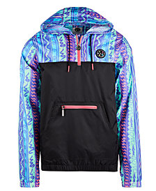 Maui and Sons Men's Rad Retro Windbreaker Jacket