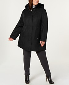 Jones New York Plus Size Hooded Raincoat