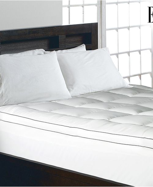 Elle Decor 1200 Thread Count Cotton Blend 2 Inch Gusseted Twin Mattress Pad