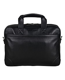 "Karino Leather Double Compartment 15"" Computer Case Bag"