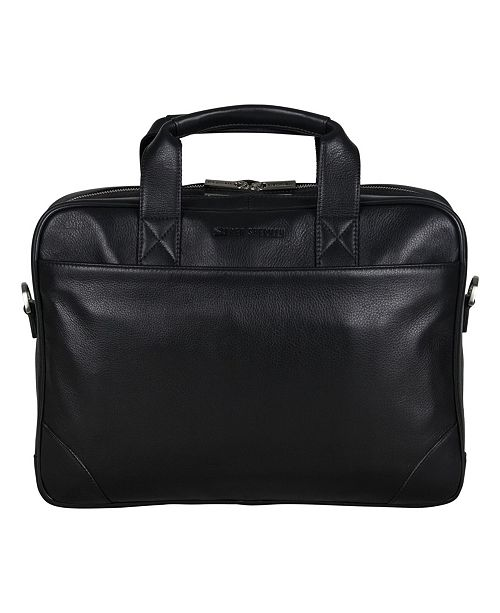 """Ben Sherman Karino Leather Double Compartment 15"""" Computer Case Bag"""