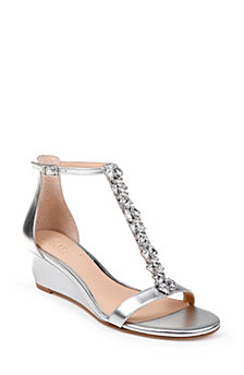 Jewel Badgley Mischka Darrell Wedge Sandals