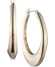 Carolee Gold-Tone Sculptural Hoop Earrings