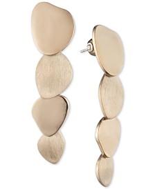 Carolee Gold-Tone Layered Disc Linear Drop Earrings