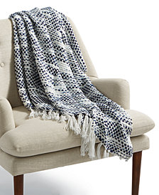 "Lacourte Portland Blue 50"" x 60"" Throw"
