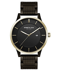 Kenneth Cole New York Men's Black Textured Bracelet Watch 44mm