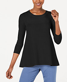 Anne Klein 3/4-Sleeve Swing Sweater