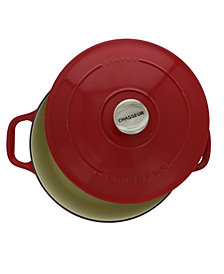 Chasseur French Enameled Cast Iron 4.2 Qt. Round Dutch Oven