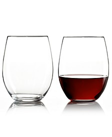 Wine Glasses, Set of 2 O Cabernet & Merlot Tumblers