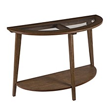 Walstonburg Demilune Console Table with Glass Top