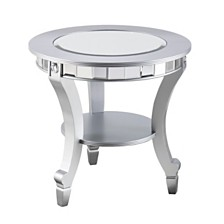 Pennsbury Glam Mirrored Round End Table