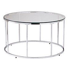 Hayesville Round Cocktail Table with Glass Top