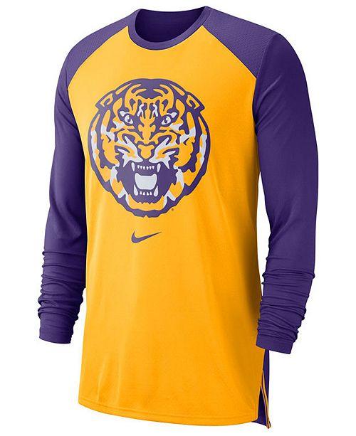 b80cfd205 Nike Men's LSU Tigers Breathe Shooter Long Sleeve T-Shirt & Reviews ...