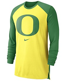Nike Men's Oregon Ducks Breathe Shooter Long Sleeve T-Shirt