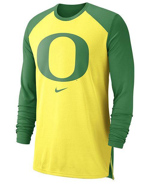 the best attitude d2616 70f73 Men's Oregon Ducks Breathe Shooter Long Sleeve T-Shirt