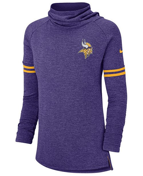 24d4e786 ... Nike Women's Minnesota Vikings Funnel Logo Long Sleeve T-Shirt ...