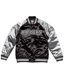 Mitchell & Ness Men's Oakland Raiders Tough Season Satin Jacket