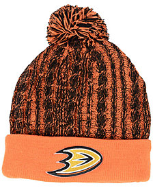 Authentic NHL Headwear Women's Anaheim Ducks Iconic Ace Knit Hat