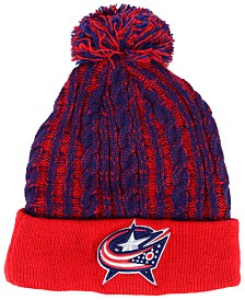 Authentic NHL Headwear Women's Columbus Blue Jackets Iconic Ace Knit Hat