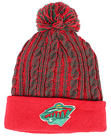 Authentic NHL Headwear Women's Minnesota Wild Iconic Ace Knit Hat