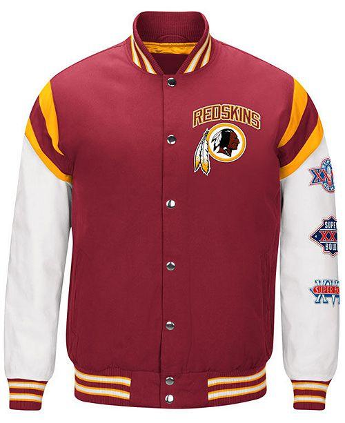 5372049d Men's Washington Redskins Home Team Varsity Jacket