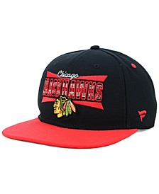 Chicago Blackhawks Combo Emblem Snapback Cap