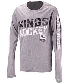 Outerstuff Los Angeles Kings Break Lines Long Sleeve T-Shirt, Big Boys (8-20)