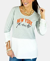 c3fcf3b3d03c6 Gameday Couture Women s New York Knicks Embellished Tunic Top
