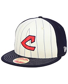 New Era Cleveland Indians Vintage Front 59FIFTY Fitted Cap