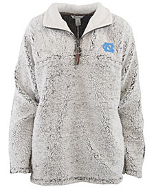 Pressbox Women's North Carolina Tar Heels Sherpa Quarter-Zip Pullover