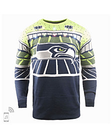 Forever Collectibles Men's Seattle Seahawks Bluetooth Sweater