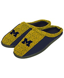 Forever Collectibles Michigan Wolverines Knit Cup Sole Slippers