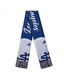 Forever Collectibles Women's Los Angeles Dodgers Glitter Script Wordmark Scarf