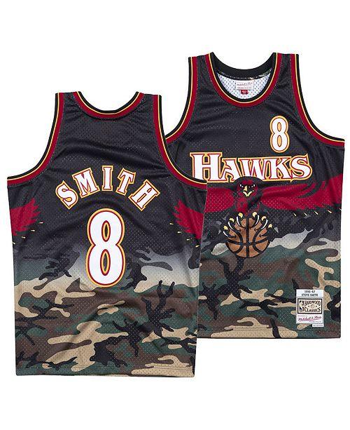 sulavalinjainen paras halpa outlet putiikki Mitchell & Ness Men's Steve Smith Atlanta Hawks Woodland ...