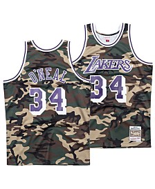 Mitchell & Ness Men's Shaquille O'Neal Los Angeles Lakers Woodland Camo Swingman Jersey