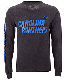 Authentic NFL Apparel Men's Carolina Panthers Streak Route Long Sleeve T-Shirt