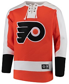 Majestic Men's Philadelphia Flyers Breakaway Lace Up Crew Sweatshirt