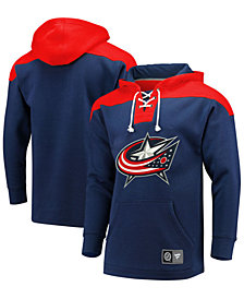Majestic Men's Columbus Blue Jackets Breakaway Lace Up Hoodie